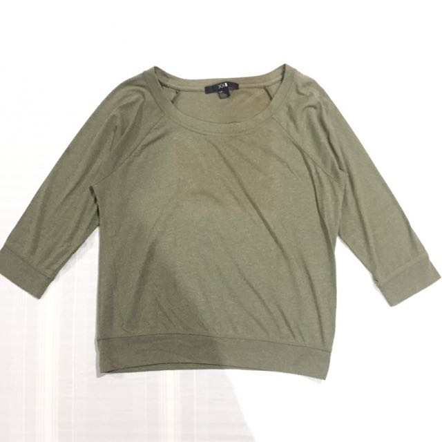 F21 Olive Green Sweater