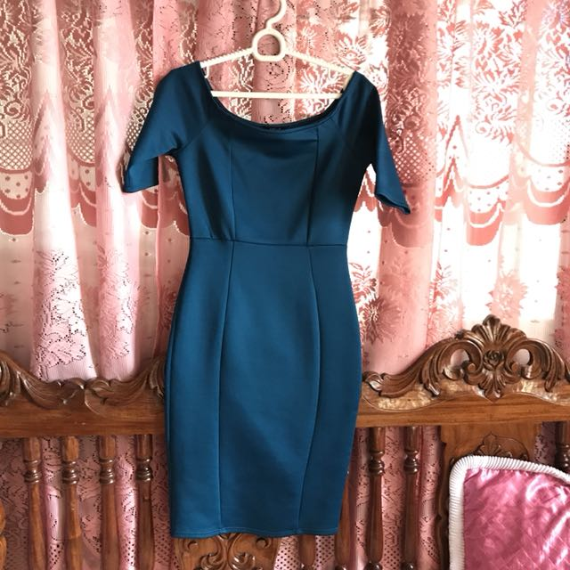 F21 Royal Blue Bodycon Dress