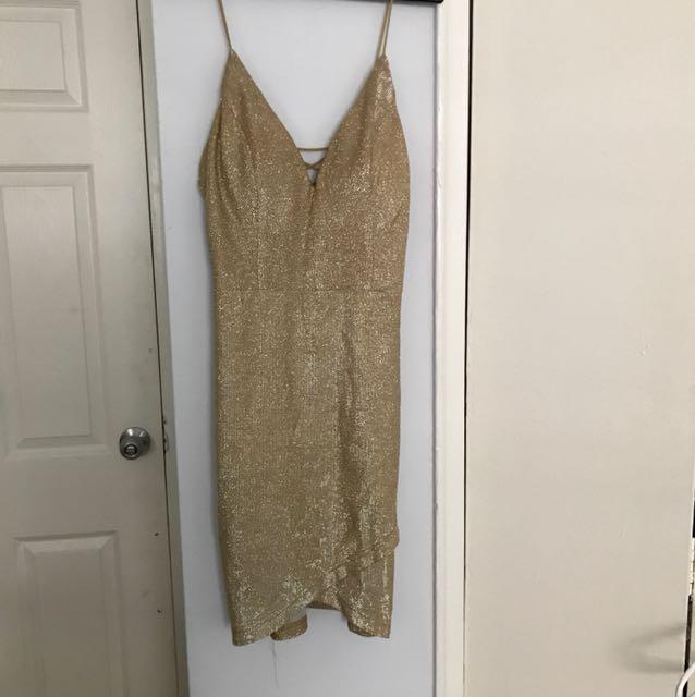 Fashion nova gold sparkly dress