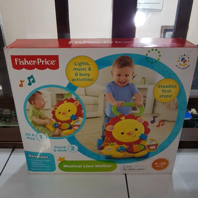 Fisher Price Musical Lion Walker Bayi & Anak Mainan Anak & Bayi di .