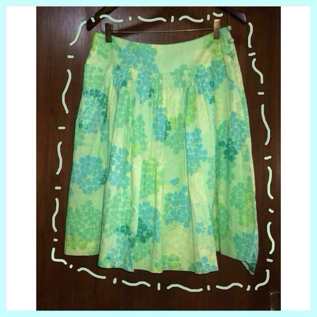 Flower Green Skirt