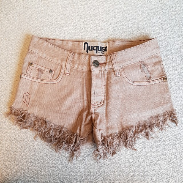 Frayed denim shorts size 6