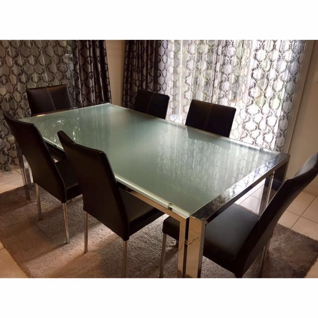 Frosted-glass Dining Table