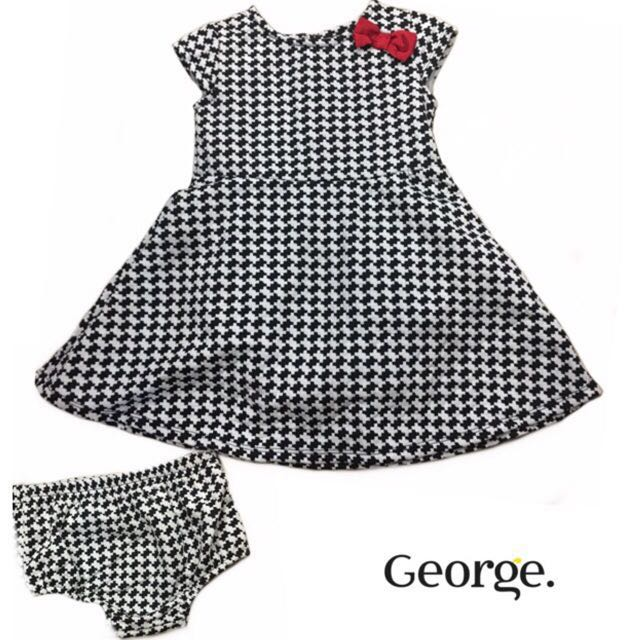 George Baby Checkered Dress Set