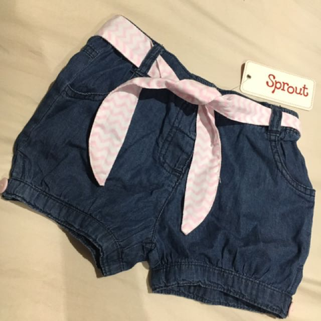 Girls Size 2 Sprout Brand Denim Shorts Brand New