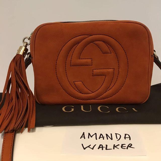 538b7a6b3f2 Gucci Soho Nubuck leather disco bag