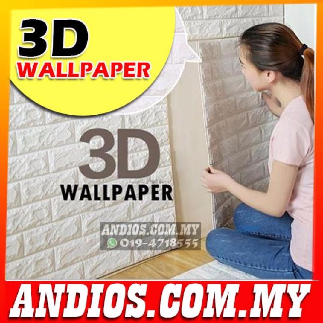 In Stock✓ 3D Wallpaper Brick Foam DIY Home Decor Self