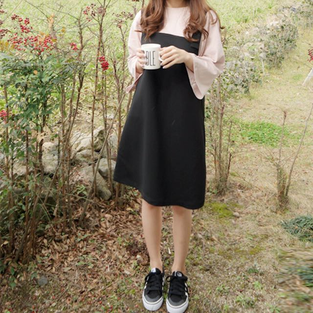 size 40 796ac 5fa65 instock ladies spring summer black loose overall dress 1509807907 17efbe8d.jpg