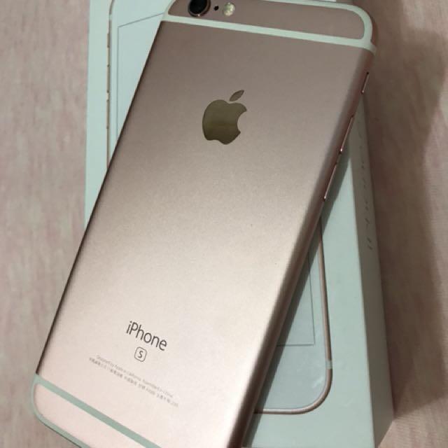 iPhone 6S 64G 玫瑰金 8成新 配備全新