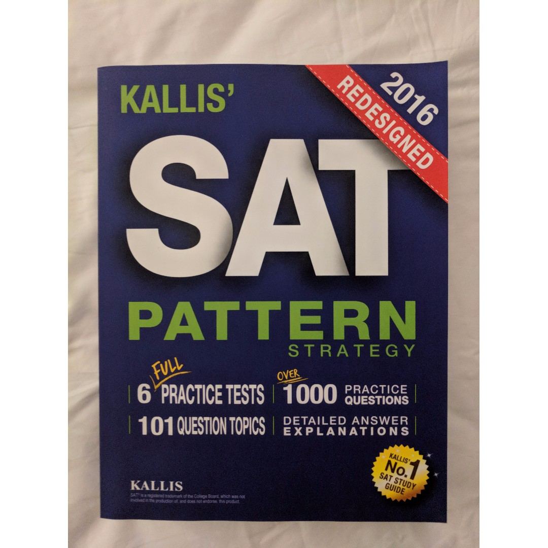 KALLIS' Redesigned SAT Pattern Strategy - Second edition, Books