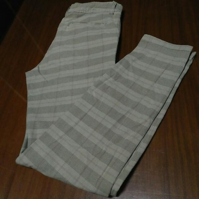 kashieca checkered cream pants