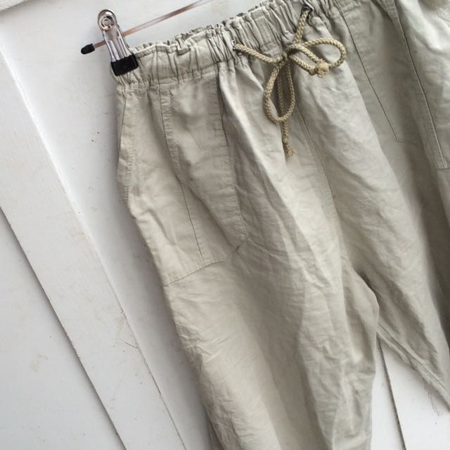 Khaki High Waisted Pants