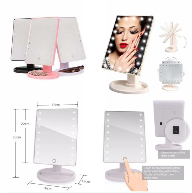LED Mirror w/ 16 LED Light.