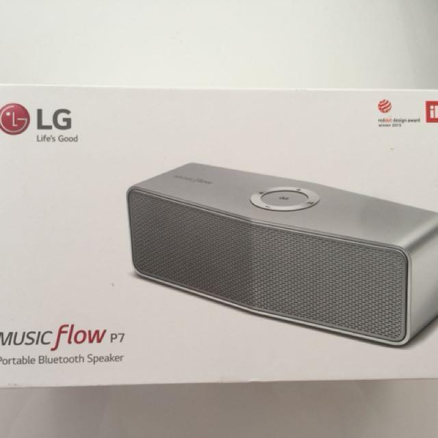 LG MUSIC FLOW P7 portable Bluetooth speaker, Electronics