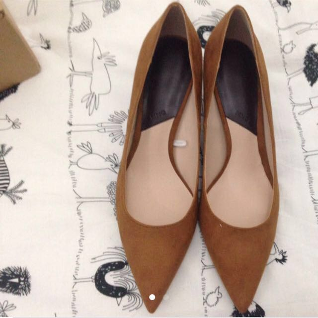 Mango Basic Heels in Brown