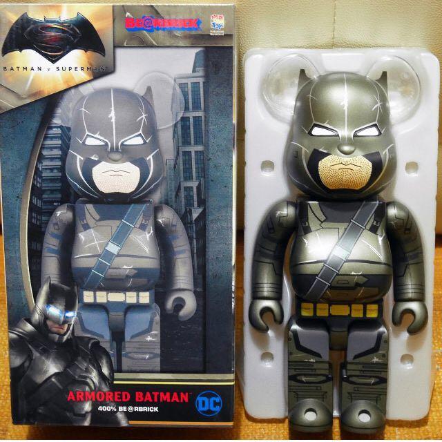 Medicom Toy 2016 x DC Comics Armored Batman v Superman 蝙蝠俠 400% Bearbrick