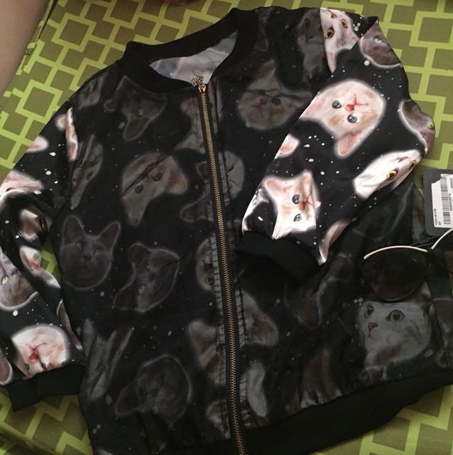 Meow Bomber Jacket