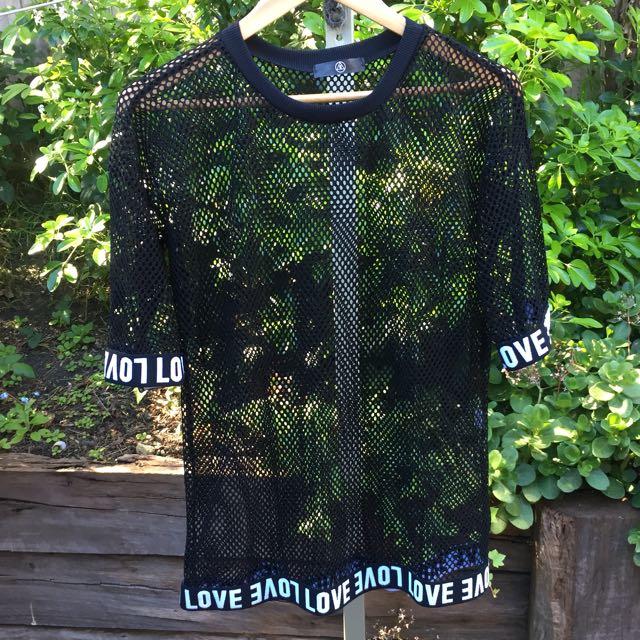 Missguided mesh tshirt