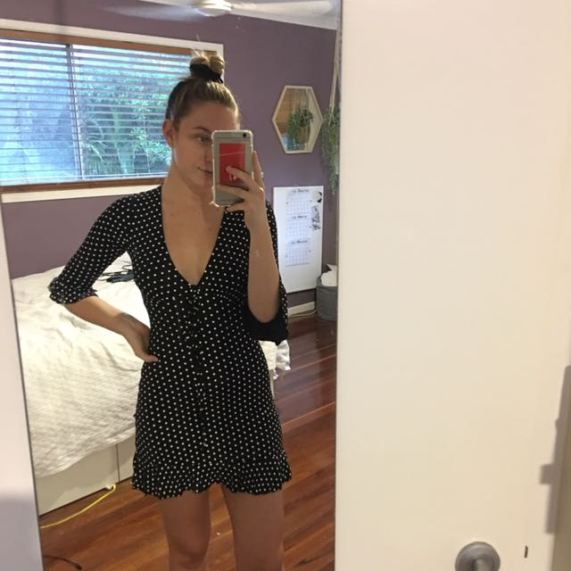 Missguided polka dot dress