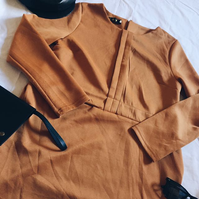 ✨Mustard Formal Dress