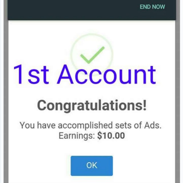 My 1st income!!! Just by clicking!!!!
