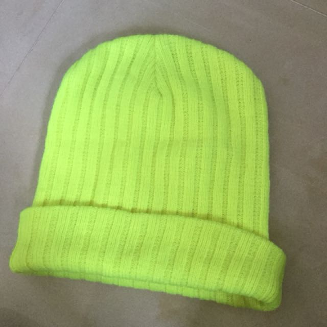 neon yellow hat women s fashion accessories on carousell