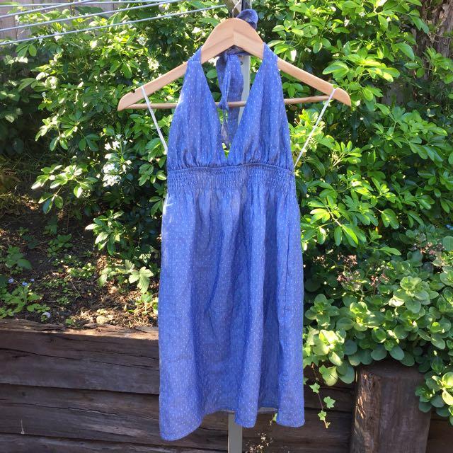 NEW Blue halterneck Ava dress