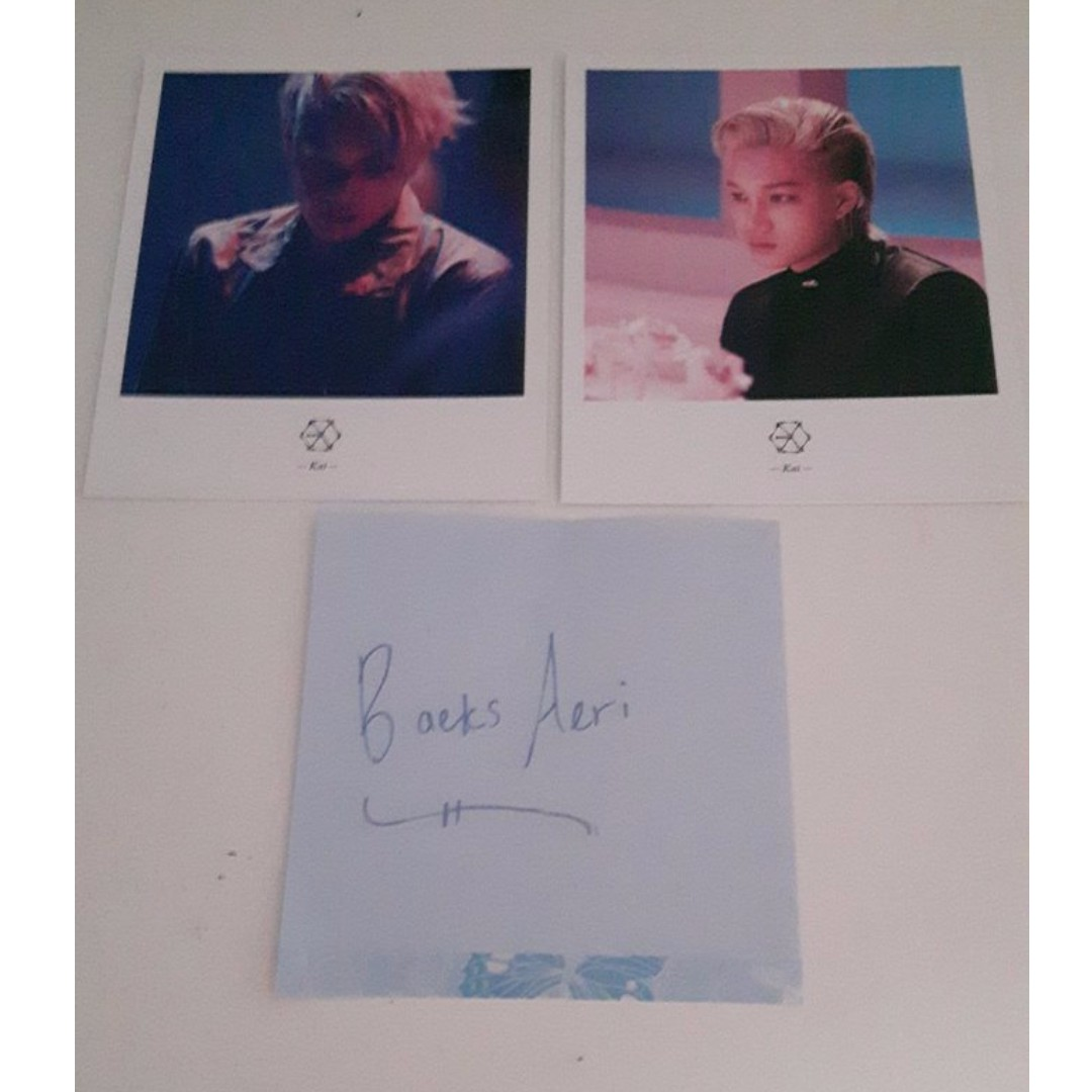 Official Kai Lucky One + Monster Polaroid Set
