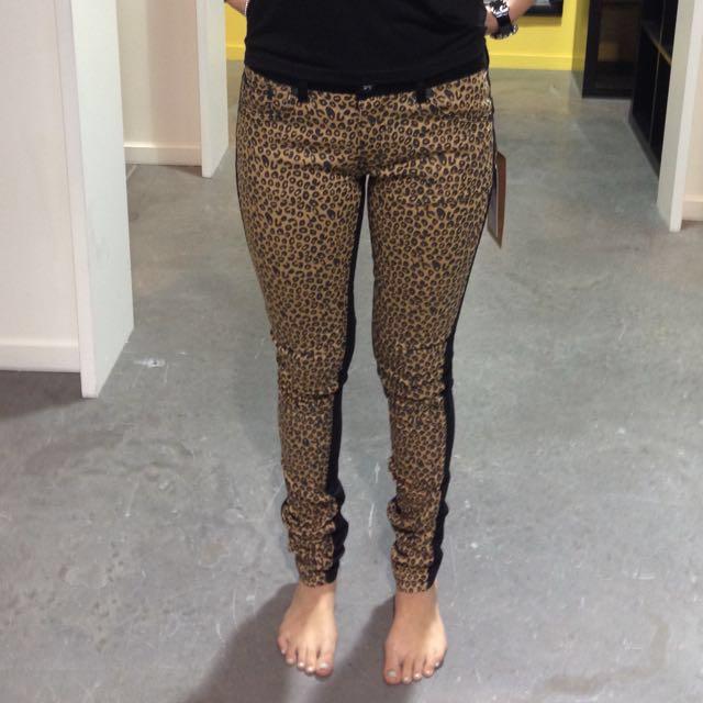 One Teaspoon Leopard print jeans