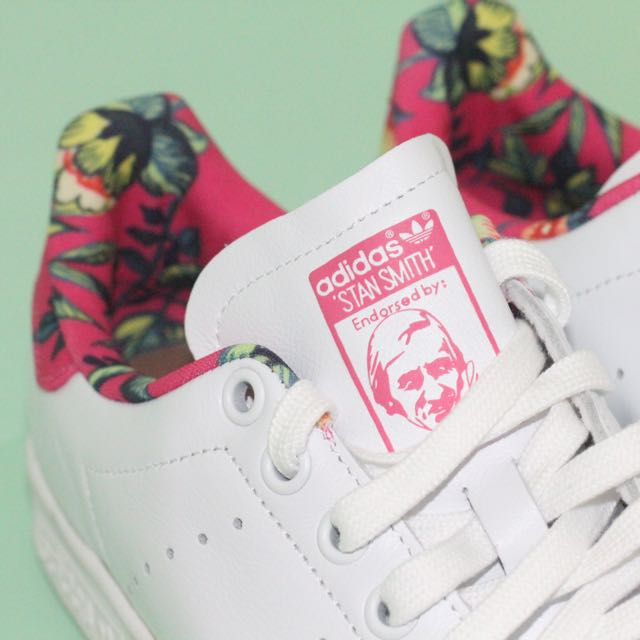 674c6bb8ed4c8 ORIGINAL Adidas Stan Smith Pink Floral