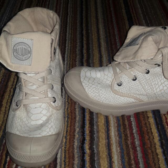Original PALLADIUM BOOTS, Snake Skin Type (Bisa Dilipat Jadi Pendek Atau Tinggi 2/3 Kaki