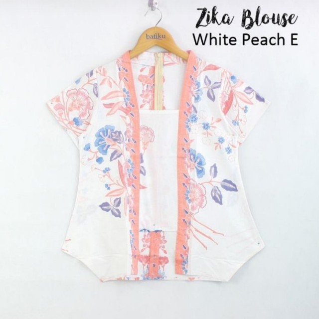 Peach batik blouse