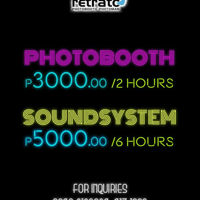 Photobooth, Photonan And Sound System