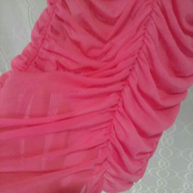 Pink lace and see through nite dress sexy size small 6, 8, 10