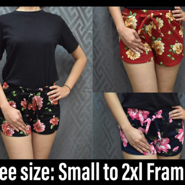 Plus size candy shorts