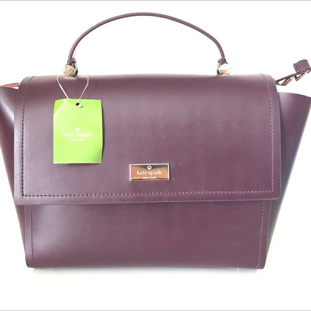 Purple/rose Kate Spade Leather Bag