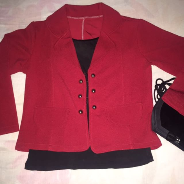 Red coat for  office ladies