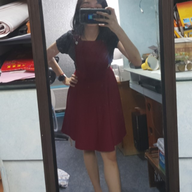 Red jumper dress brand new