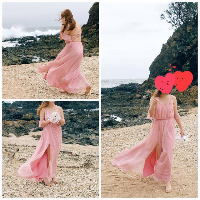 Repriced!! ZOOSHOP Inspired Blush Pink Sexy Back Gown