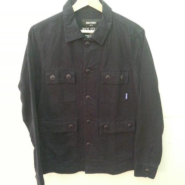 ROCK STEADY 海軍藍軍事4口袋外套 9成新 Size:M