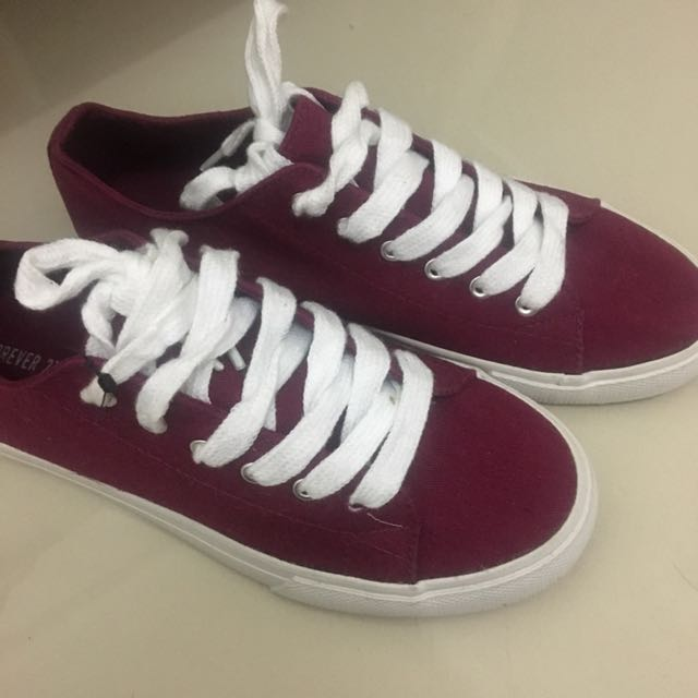 Sepatu Forever 21 Maroon NEW with tag size 36