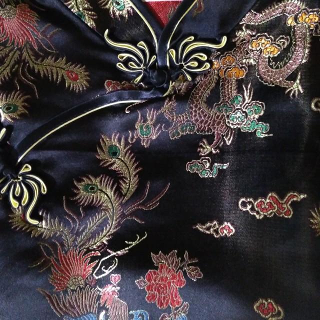 Sexy Long Black Chinese Dress