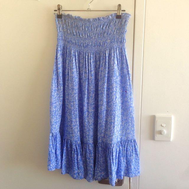 Shirred Strapless Dress - Size 12