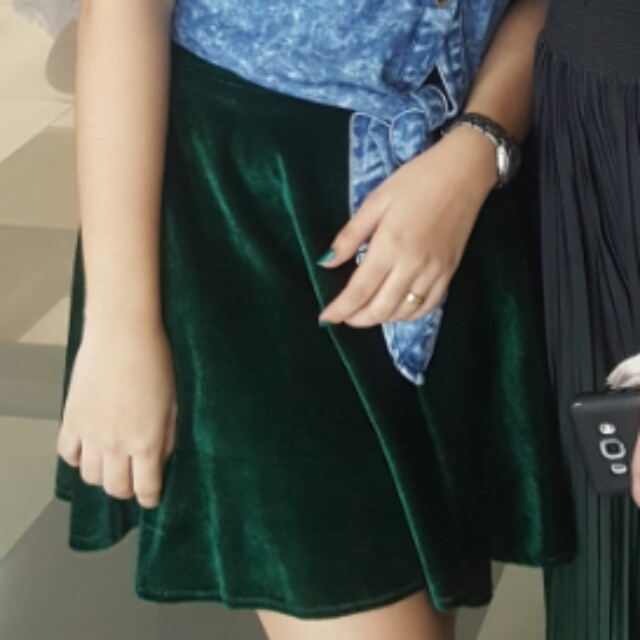 Skater Skirt! Velvet Green