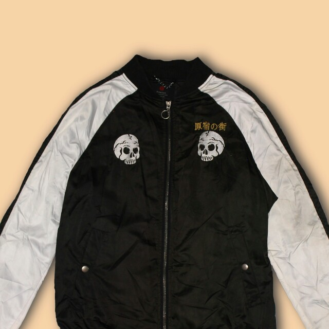 Skull Satin-like Jacket
