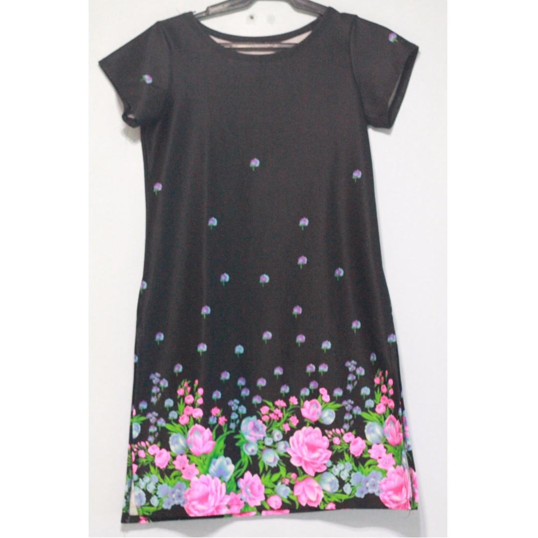 Slip dress with short