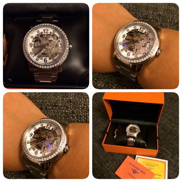 Stuhrling Original Ladies Skeleton Watch Price Reduced Frm Rm320
