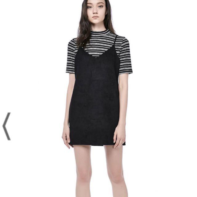 5fd624ad5d588 TEM suede black cami slip dress, Women's Fashion, Clothes, Dresses ...