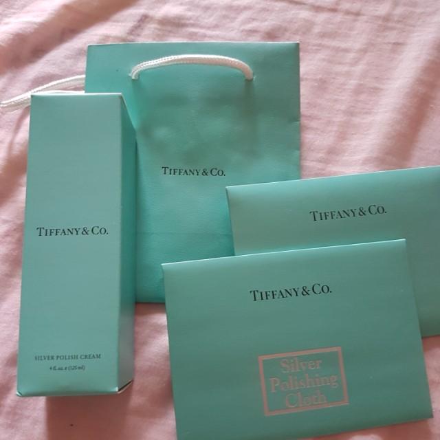 Tiffany silver care kit cream and cloth