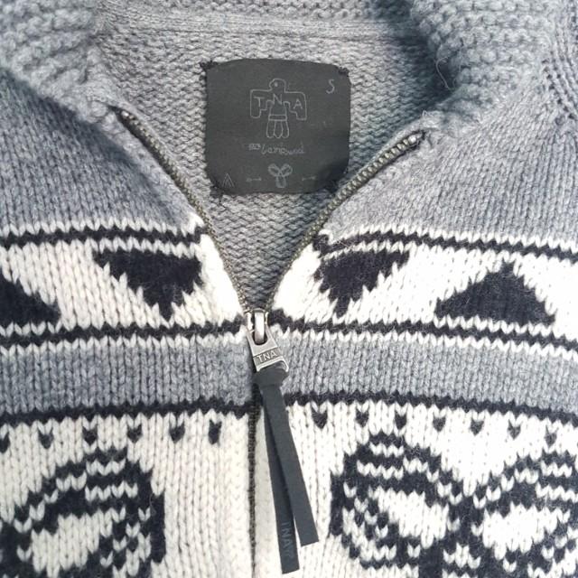 TNA Wool Zip-up Knit Sweater